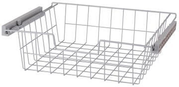 Metal sliding basket H15 X W60 x D45cm