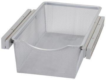 Sliding mesh metal basket H15 x W36.8 x D58cm