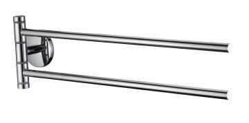Double swivel towel bar zink alloy chrome SENSEA silver