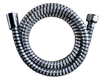 SHOWER HOSE 2.0M PVC CHROME AND BLACK SP