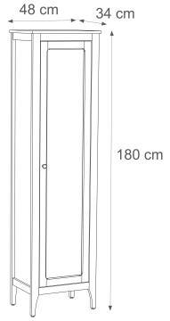 ASHLEY COLONNE MIROIR 48 X 34 X H180 CM