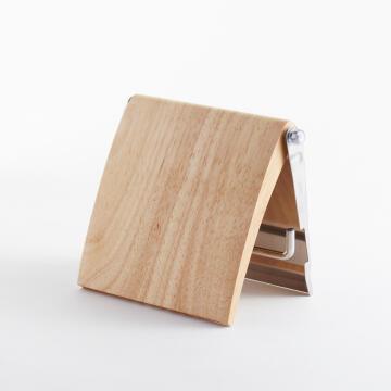 Paper holder Stainless Steel SENSEA Scandi Wood Finish