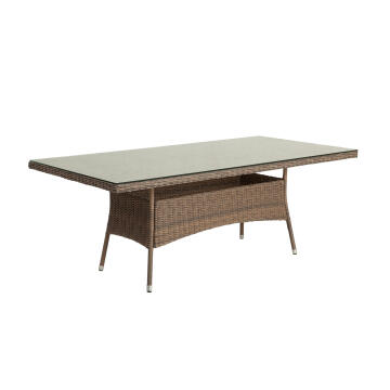 Table 200X100 Wicker Naterial Manhattan