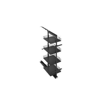 Kitchen sliding wire basket half pantry cabinet grey 58cm X 60cm X 137.6cm