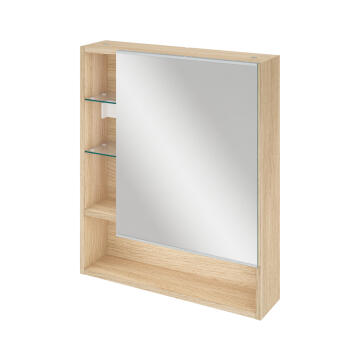 EASY BIG MIRROR CABINET 60CM OAK