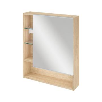 Bathroom mirror cabinet 60cm SENSEA Easy oak 70x60x14cm