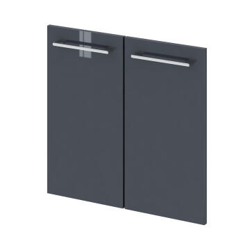 Wall hung cabinet 2door P_30_58 Remix grey