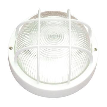 ROUND BULKHEAD LAMP E27 MAX60W PLASTIC W