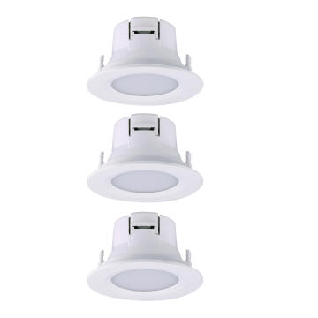RECESS DL LED 3X4W 3X450LM 4000K WH RND