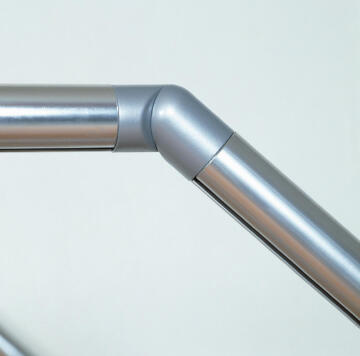 HANDRAIL JOINT ANGLE ALU LIGHT GREY 40MM