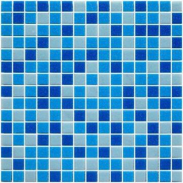 1PR MOSAIC RECON GLASS BLU MIX 327X327MM