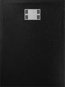 Shower tray rectangle resin SENSEA Slate black 120X90CM