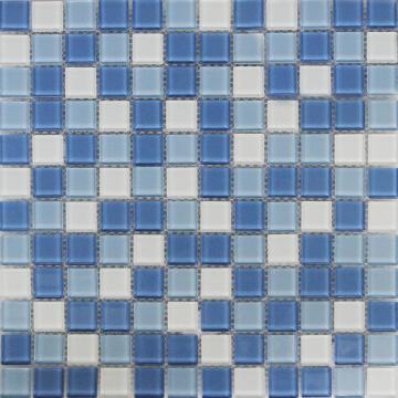 MOSAIC GLASS SHAKER BLUE ARTN 300X300MM