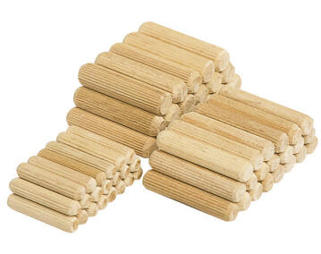 50 dowel pins, beech WOLFCRAFT ø6x30mm