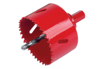 Hole saw WOLFCRAFT bim with HEX adapter 127mm