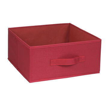 POLYESTER BASKET 31X31X15 RED