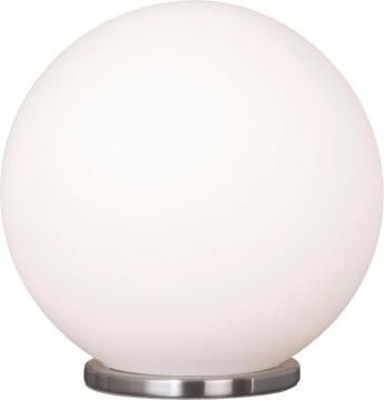 RONDO TABLE LAMP SATIN CHROME/WHITE