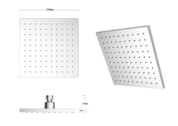Shower head vardo square 20*20cm 1j acs