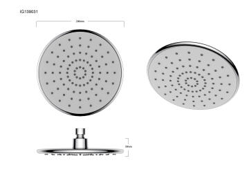 Shower head round 1jet acs chrome SENSEA Stefi 20.5CM