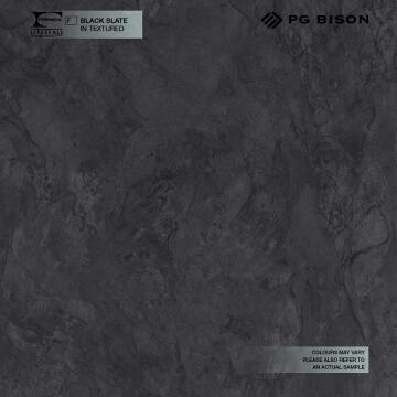 Kitchen worktop laminate slate black L360XD60XT2.8cm