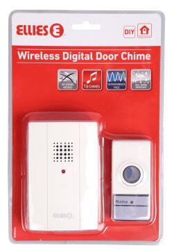 Door chime wireless 1 receiver - 1 transmitter ELLIES