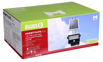 Solar Kit 1 spot LED 1200 lumens 1 solar panel 16w ELLIES