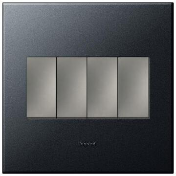 Switch 100x100mm 4 levers 1 way LEGRAND ARTEOR graphite