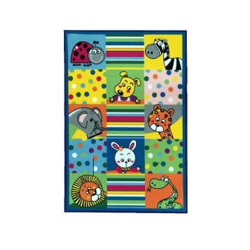 DIT PRINT NYL RUG KID ANIMAL 100X150