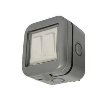 Waterproof switch 2 levers 2 ways IP55 STINGRAY