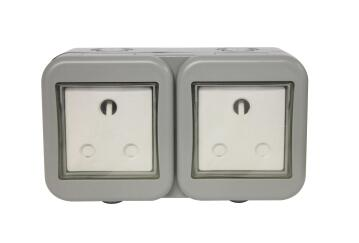 Waterproof socket 2x3pin IP55 STINGRAY