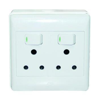 Wall mounted socket 100x100mm 2x3pin