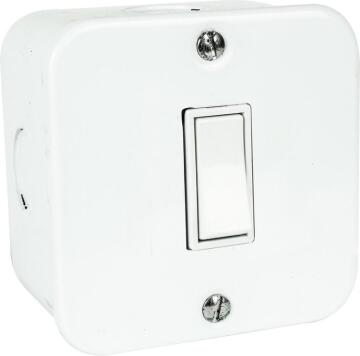 Wall mounted switch 1 lever - 2 Way 10A ACDC