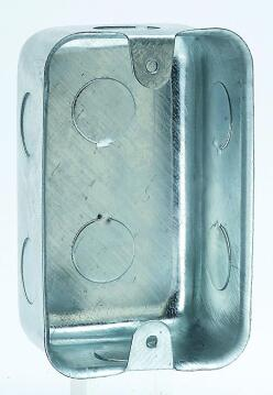 Wall box 50x100mm galvanized