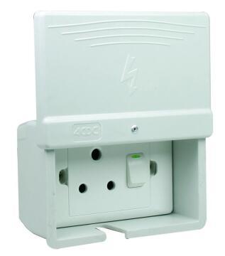 Waterproof switch 1 lever 1 way 50x100mm fibre