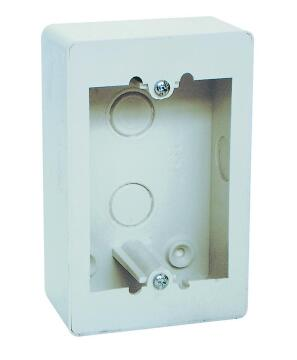 Wall box 50x100mm steel white
