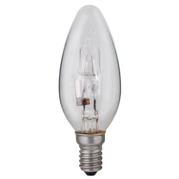 HALOGEN 28W E14 CANDLE CLEAR
