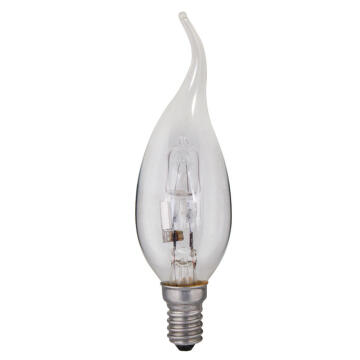 HALOGEN 28W E14 CANDLE FLAME CLEAR