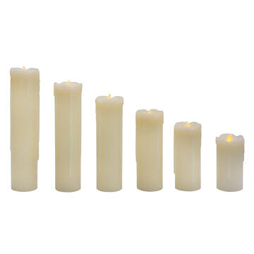 6PCS LED CANDLE FLAMELESS DRIPPPING EFFE