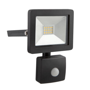 LED FLOODLIGHT 10W WITH SENSOR BLACK