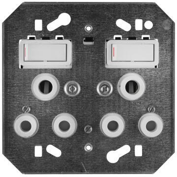 Module 2 x 3 pin CRABTREE white