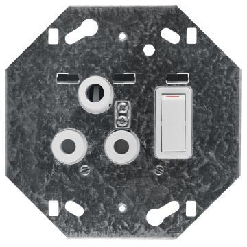 Module 3 pin 100x100mm CRABTREE white