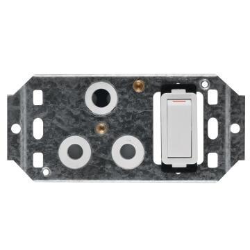 Module 3 pin 50x100mm CRABTREE white