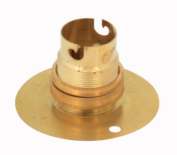 Bulb holder B22 baton type EUROLUX brass