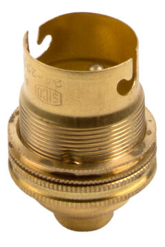 Bulb holder B22 with earth screw EUROLUX brass