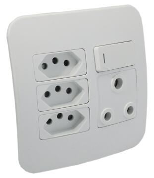 Socket 1x3pin - 3x2pin VETI 1 white