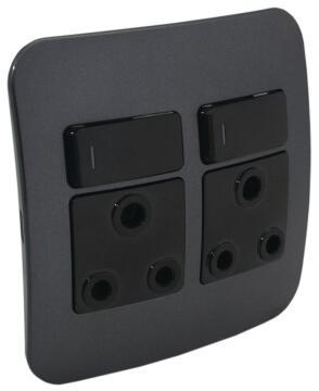 Socket 100x100mm 1x3pin VETI 1 black