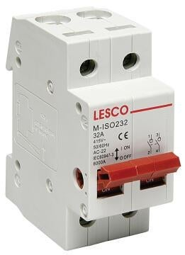 Circuit breaker DIN rail 32Amp LESCO