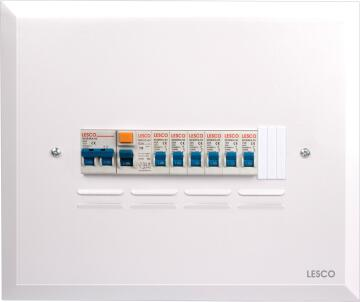 DB board populated 12 ways flush mounted LESCO