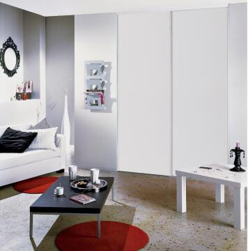 Wardrobe sliding door kit white H250 x W120cm