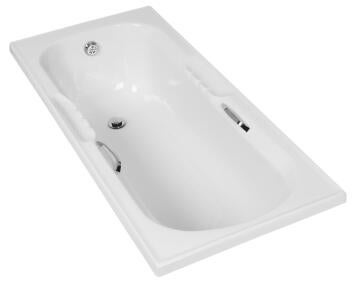 Bathtub rectangular acrylic JUPITER white 150X70X40CM